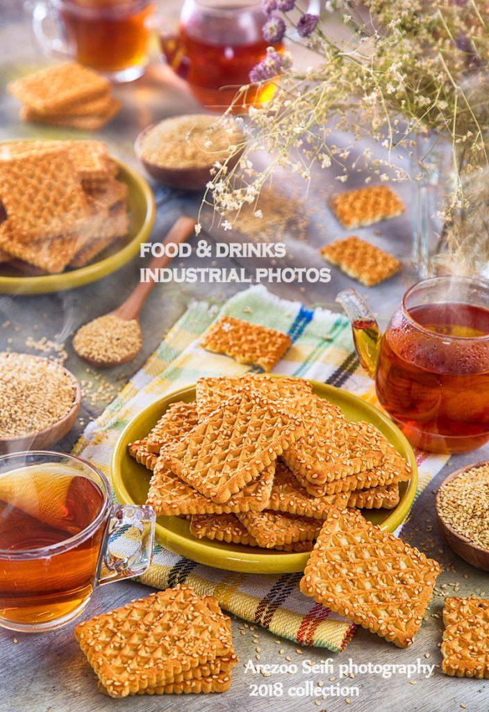 عسل.صبحانه.عکاسی مواد غذایی.عکاسی صنعتی.ارزوسیفی . بیسکویت.عصرانه.biscouit